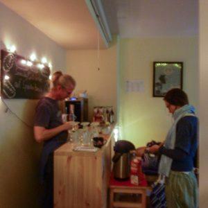 Theke im Café